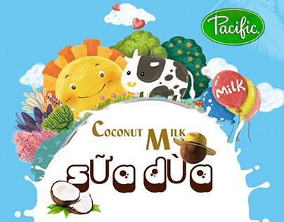 poster quảng cáo sữa dừa