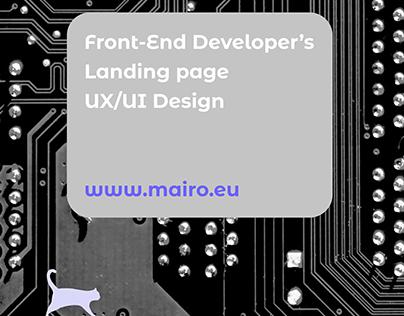 Front-End Developer's Landing page