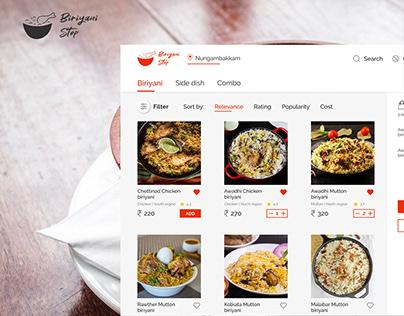 Biriyani Stop - Food delivery website