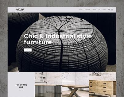 Oaky Oak Furniture - Web Design