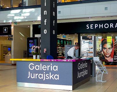 Wayfinding system for Galeria Jurajska, Częstochowa