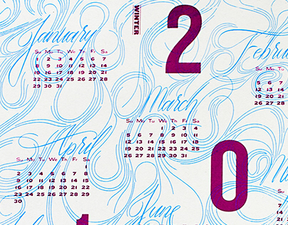 2017 Typographic and Lettering Calendar