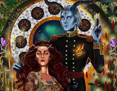 Gods and legends Illustration