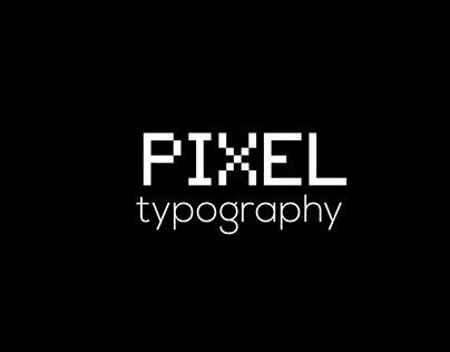 pixel typography