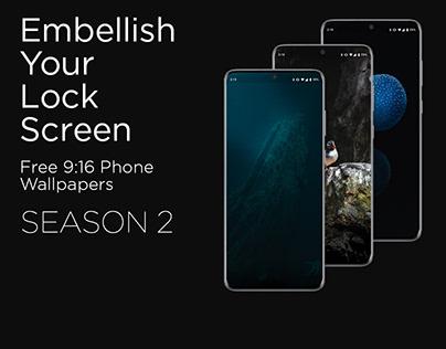 Embellish Your Lock Screen S2 // Free Phone Wallpapers