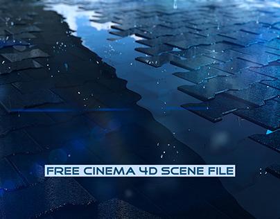 Rain | Fully Rigged Free Cinema 4D Scene File