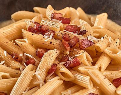 Food Photography - Penne Barilla Carbonara