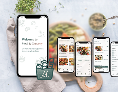 UX/UI Design of a Meal & Grocery Planning App