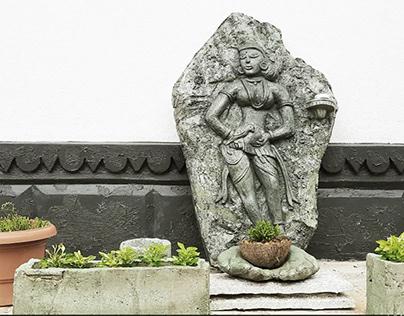 Garden Lady- Cement Sculpture