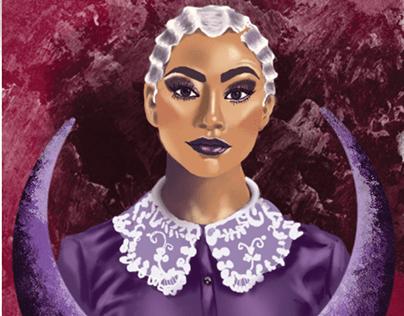 Prudence bookmark illustration of the Sabrina series