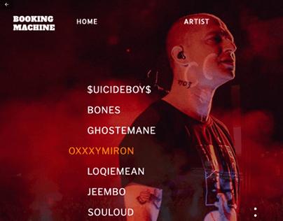 website redesign booking-machine