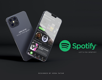 SPOTIFY REDESIGN - UI/UX DESIGN - FREE