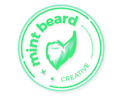 Mint beard creative coaster