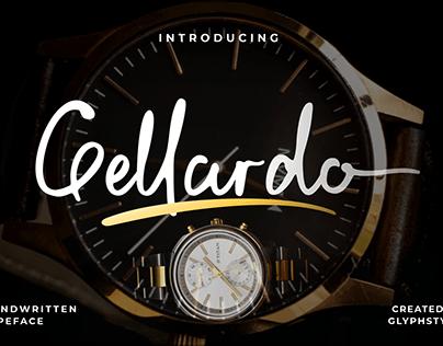 Gellardo Handwritten Typeface