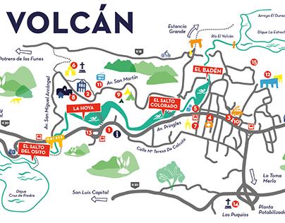 Municipalidad de El Volcán - Branding + Mapa Ilustrado
