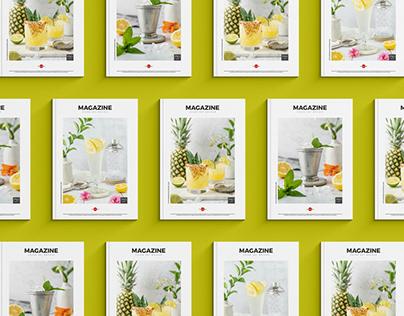 Free Magazine Cover Set Mockup