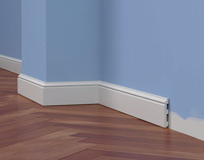 Making 3d scene for presenting baseboard`s product line