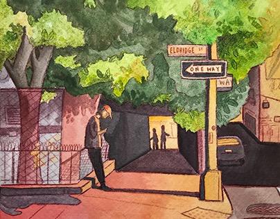 NYC Illustrations: Eldridge St.