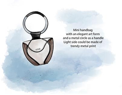 Mini handbad design and illustration