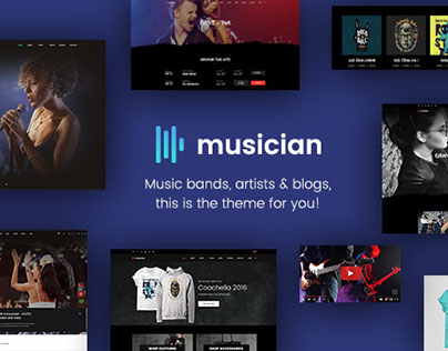 Musician - Music artists an band website template