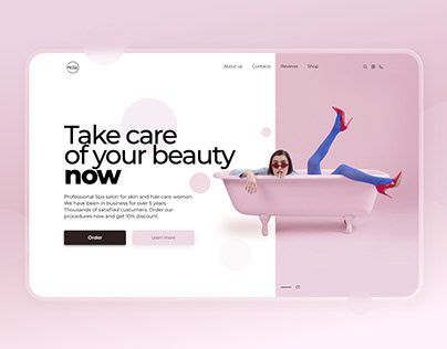 Web design first page of spa
