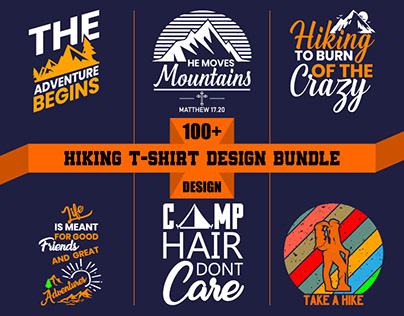 100+ HIKING T-SHIRT DESIGN BUNDLE