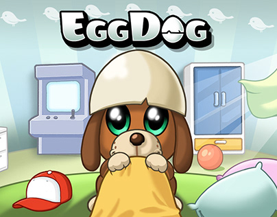 EggDog App Design for Watercolor Ent.