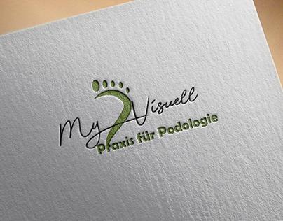 Foot Logo design green modern business Spa