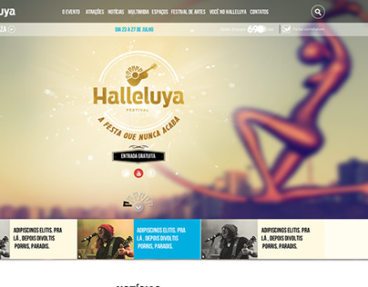 Layout Site Institucional Halleluya