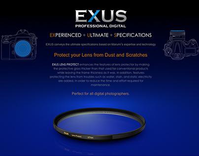 MARUMI EXUS Lens Protect - Product web design