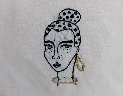 hand embroidery on cotton fabric