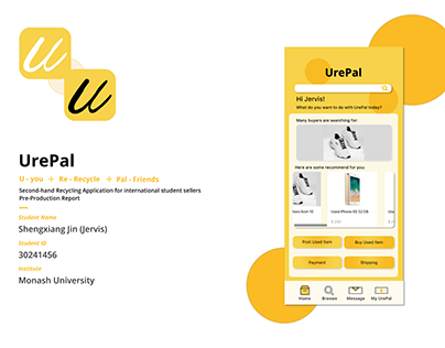 Pre-Production Report UrePal Second-hand Recycling App