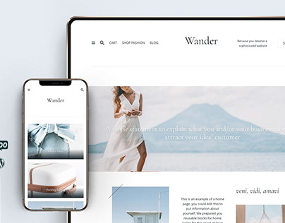 Wander WordPress Blog & Shop Theme