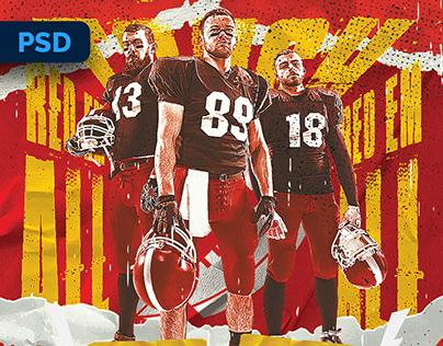 American Football Flyer - PSD Template