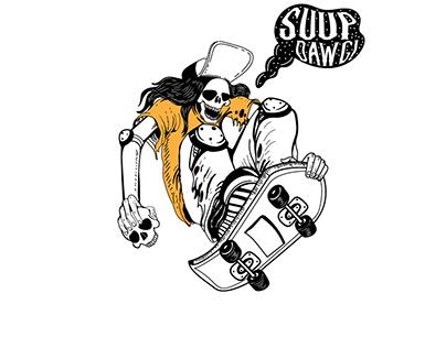 Skull Skateboarder