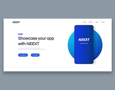 NEEXT - App Responsive Landing Page Template
