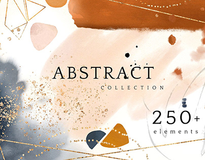 Abstract collection watercolor art