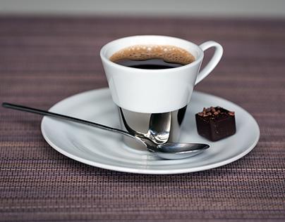 Echo,ensemble de tasses à café en porcelaine de Limoges