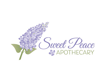 Sweet Peace Apothecary logo and branding