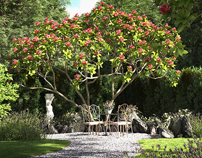 An Enchanted English Garden (3D)