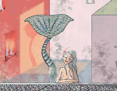Casa al mare con sirena