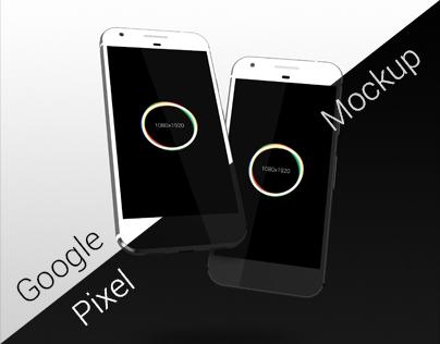 Google Pixel Mockup Free PSD