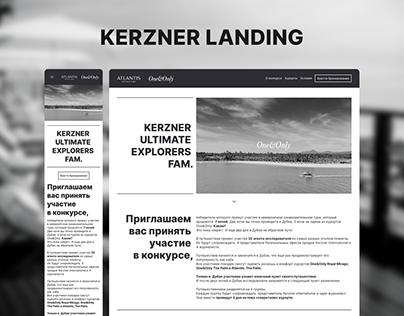 Kerzner Hotel Group Landing Page B2B