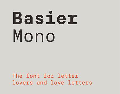 Basier Mono font