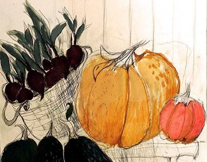 """Illustrations for the magazine """"La Dame de Pique"""""""