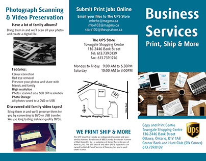 The UPS Store Business Services Brochure