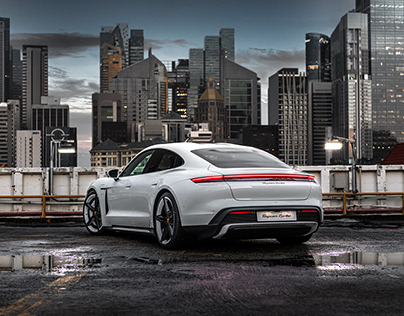 Shooting the Porsche Taycan Turbo In Singapore