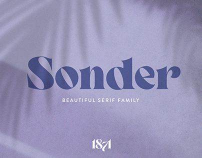 Sonder - Beautiful Serif Typeface