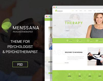 Menssana - Psychologist & Psychotherapist PSD Template