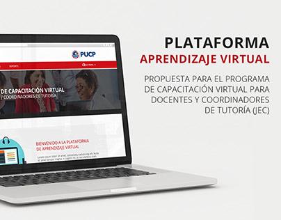 Diseño visual. Plataforma Virtual: JEC